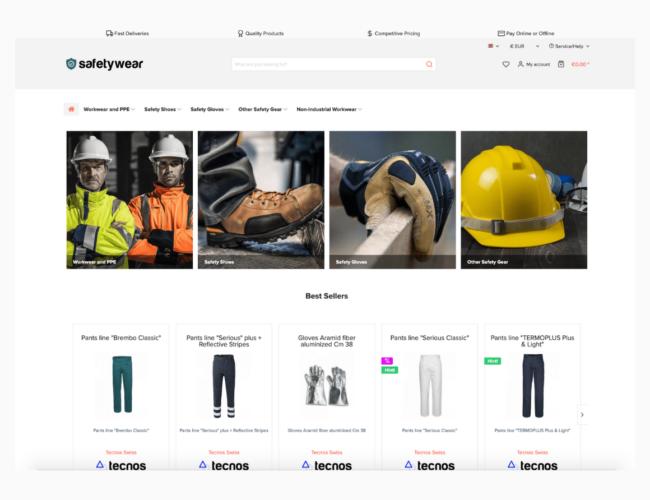 Safety wear ecommerce